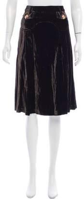 Dolce & Gabbana Pleat Knee-Length Skirt
