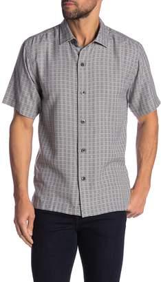 Tommy Bahama Geo Getaway Regular Fit Silk Print Shirt