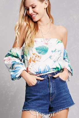 FOREVER 21+ Tropical Floral Crop Top $35 thestylecure.com