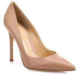 Gianvito Rossi Women's Leather Point Toe Pumps - Praline - Size 35 (5)