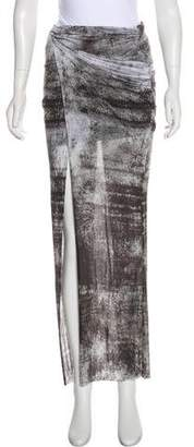 Helmut Lang Printed Asymmetrical Skirt w/ Tags