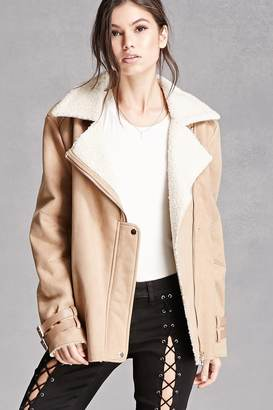 FOREVER 21+ Faux Suede Zip Moto Jacket $78 thestylecure.com
