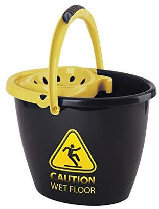 MOP Juypal lml Spanish Bucket with Classic Wringer, Black/Yellow, 14 Litre