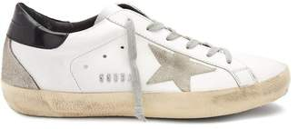 Golden Goose Super Star Low Top Leather Trainers - Womens - White Black