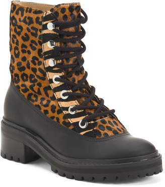 Made In Brazil Haircalf And Waterproof Rubber Lug Sole Boots