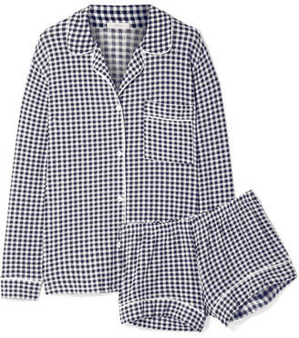 Eberjey Bettina Sleep Chic Gingham Stretch-modal Jersey Pajama Set - Midnight blue