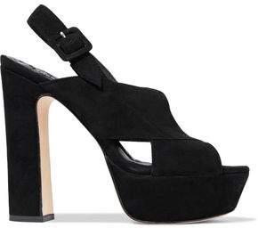 Alice + Olivia Larissa Suede Platform Sandals