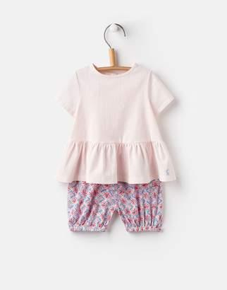 Joules Clothing Cream Summer Mosaic Romy Peplum Top And Bloomer Set