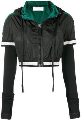 NO KA 'OI No Ka' Oi cropped hooded jacket