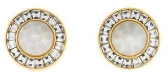 Lele Sadoughi Crystal Token Stud Earrings