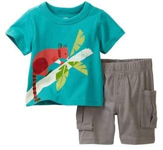Tea Collection Tree Kangaroo Outfit (Baby Boys)