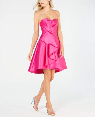 Adrianna Papell Strapless High-Low Dress