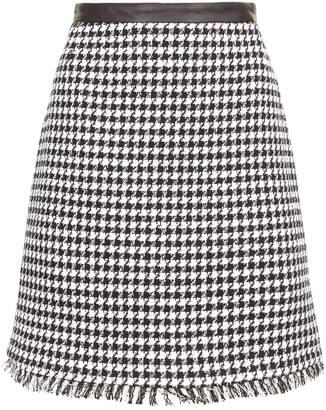 Claudie Pierlot Houndstooth Mini Skirt