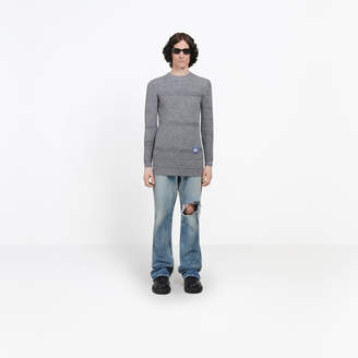 Balenciaga Ribbed sweater with back panel
