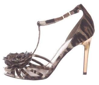Lanvin Printed Ankle-Strap Sandals