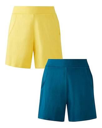 Fashion World 2PKStretch Jersey Shorts