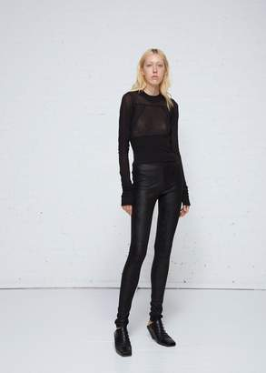 Rick Owens Lamb Skin Leather Leggings