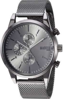 Steve Madden Men's Quartz Stainless Steel and Alloy Dress Watch, Color:Grey (Model: SMMW039GU)