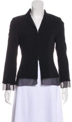 Calvin Klein Collection Silk Button-Up Blazer