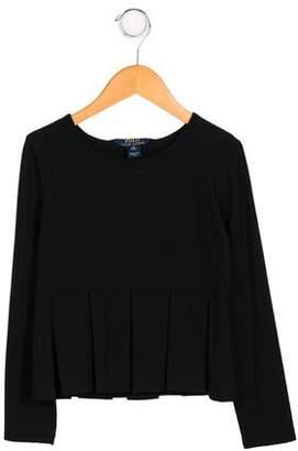 Polo Ralph Lauren Girls' Long Sleeve Peplum Top w/ Tags