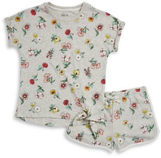 Dex Girls Floral Tee and Shorts Pajama Set $30 thestylecure.com