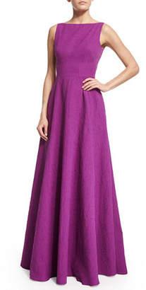 Lela Rose Sleeveless V-Back Gown