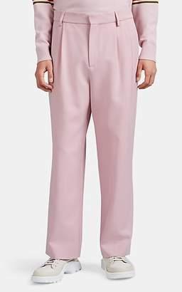 Sies Marjan Men's Andy Wool Gabardine Relaxed Trousers - Rose