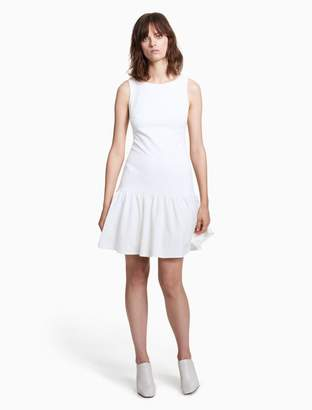 Calvin Klein ruffle hem sleeveless dress