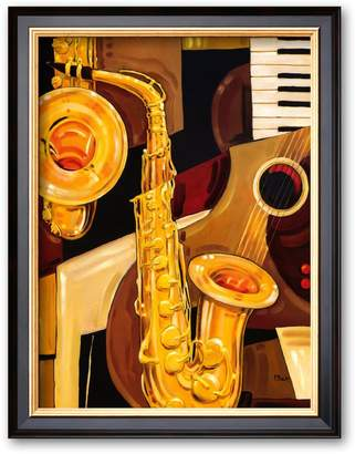 "Art.com Abstract Sax"" Framed Art Print by Paul Brent"