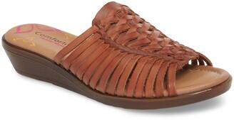 Comfortiva Felida Huarache Slide Sandal