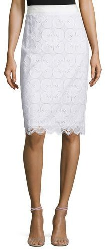 Trina Turk Lace Pencil Skirt