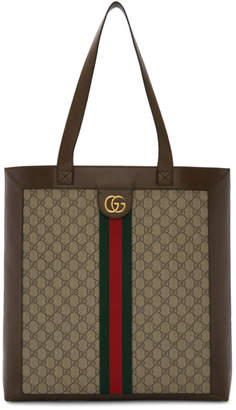 dead434ebea1 Gucci Brown and Beige GG Ophidia Tote