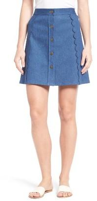 Women's Draper James Stretch Denim Miniskirt $125 thestylecure.com