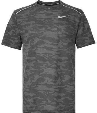 cdc2a294 Nike Running Rise 365 Perforated Camouflage-Print Breathe Dri-Fit T-Shirt