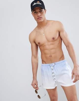 Ellesse Rombo Dip Fade Swim Shorts In Lilac