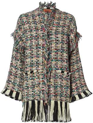 Missoni Novelty Knit Fringe Jacket