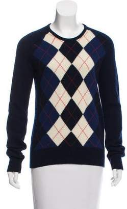Balenciaga Argyle Virgin Wool Sweater