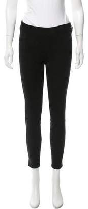 L'Agence Suede Mid-Rise Leggings w/ Tags