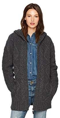 Pendleton Women's Hooded Zip Oversized Lambswool Cardigan Sweater