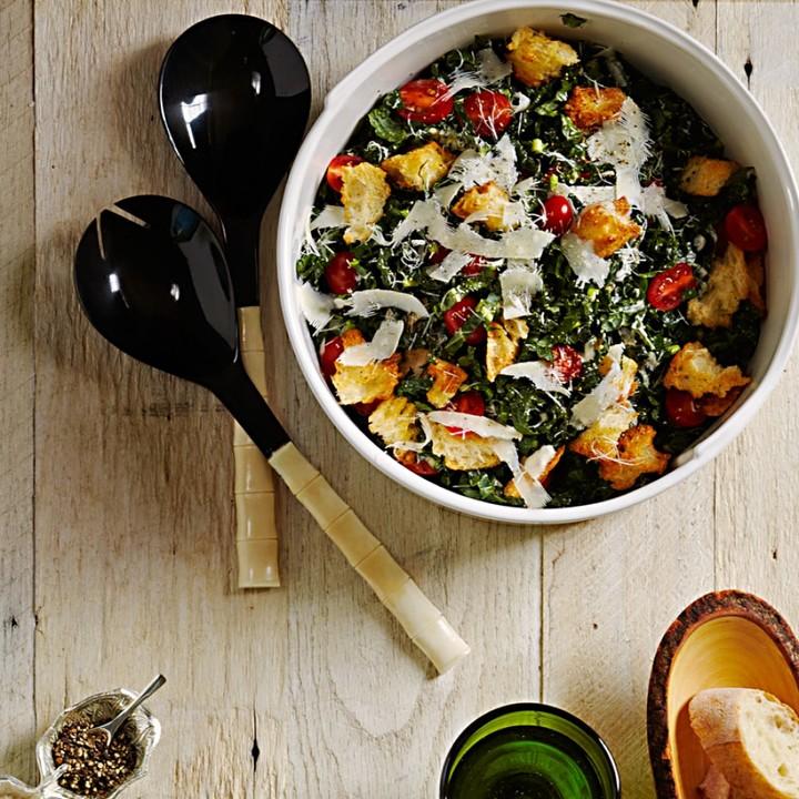 Williams-Sonoma White Bone & Black Horn Salad Servers, Set of 2