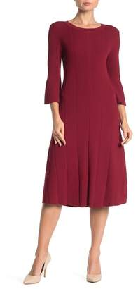 BOSS Fenidi Ribbed Knit Midi Dress