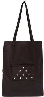 Rick Owens Studded Cotton Canvas Tote Bag - Mens - Black