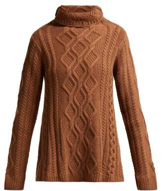 Queene And Belle - Hester Cable Knit Cashmere Sweater - Womens - Brown