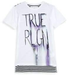 True Religion Little Girl's & Girl's Sketch Logo Cotton Tee