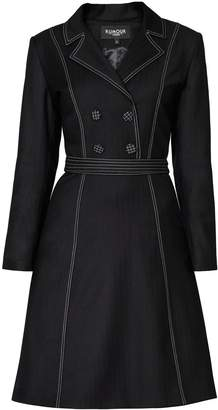 Rumour London - Annabel Virgin Wool Dress With Pleated Back & Contrasting Stitching