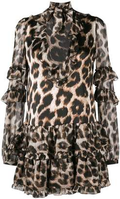 Philipp Plein leopard print mini dress