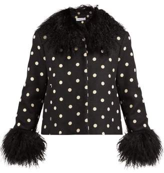 Saks Potts - Dorthe Polka Dot Wool Jacket - Womens - Black White
