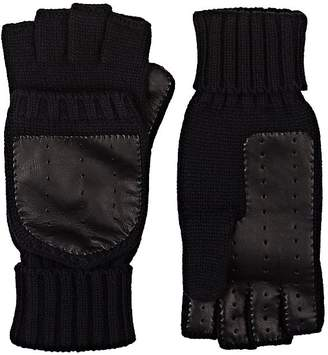 Barneys New York MEN'S WOOL-CASHMERE CONVERTIBLE MITTENS