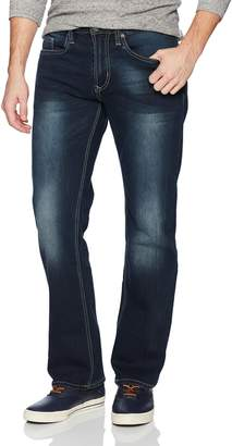 Buffalo David Bitton Men's Driven-x Relaxed Straight Fit Veined and Sanded Denim Pant