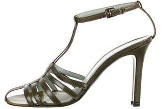 Sigerson Morrison Leather Ankle Straps Sandals